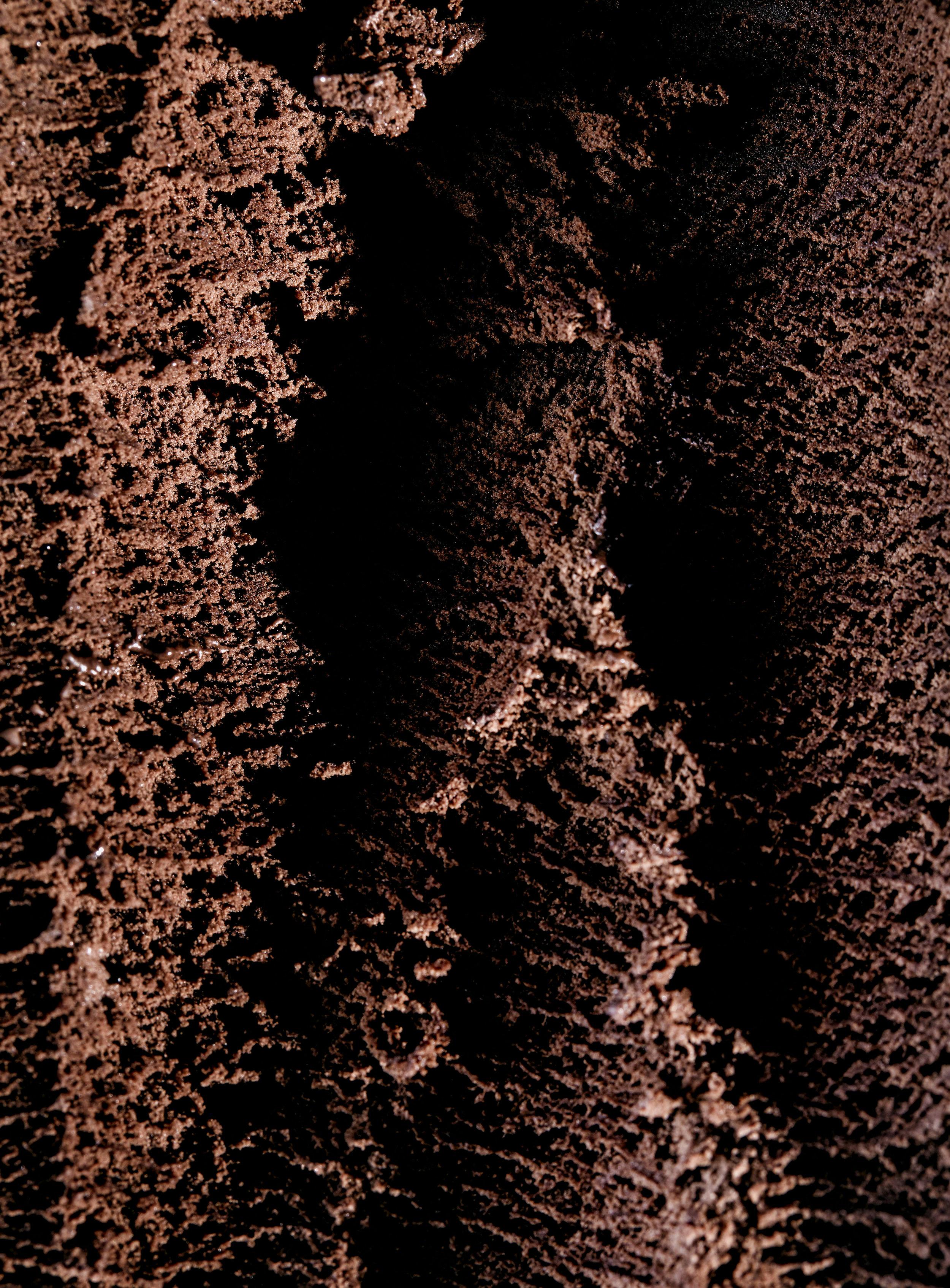 Textured Chocolate Ice Cream Toronto Food photographer