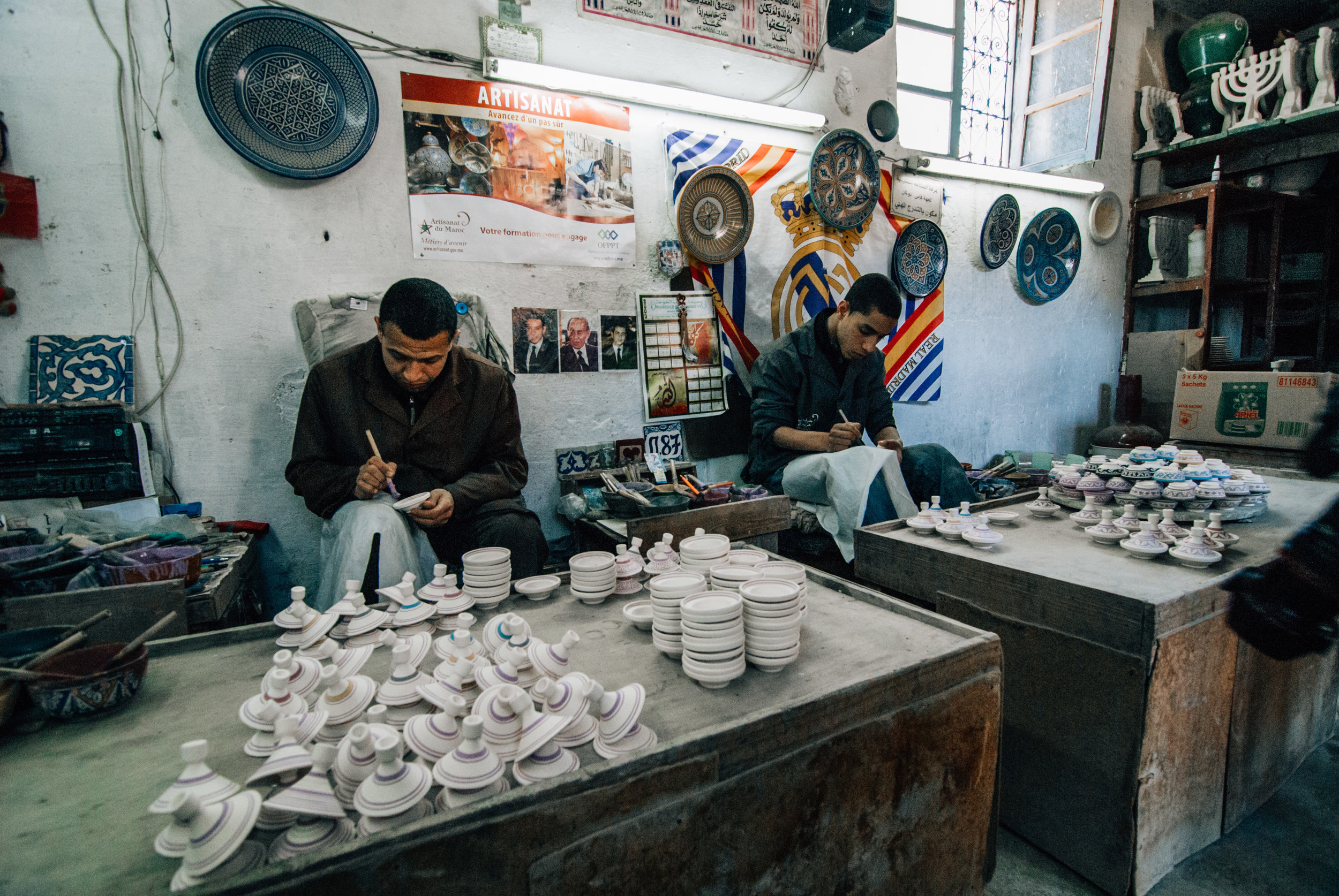 Handmade ceramic artist Morocco Toronto Travel Photographers - Suech and Beck