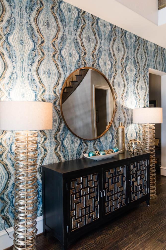 Amy Joyce Design blue pattern wallpaper
