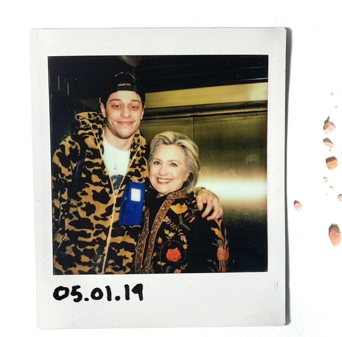 """That's bae for life,"" Pete Davidson and Hillary Clinton, photographed by Marcus Russell Price 