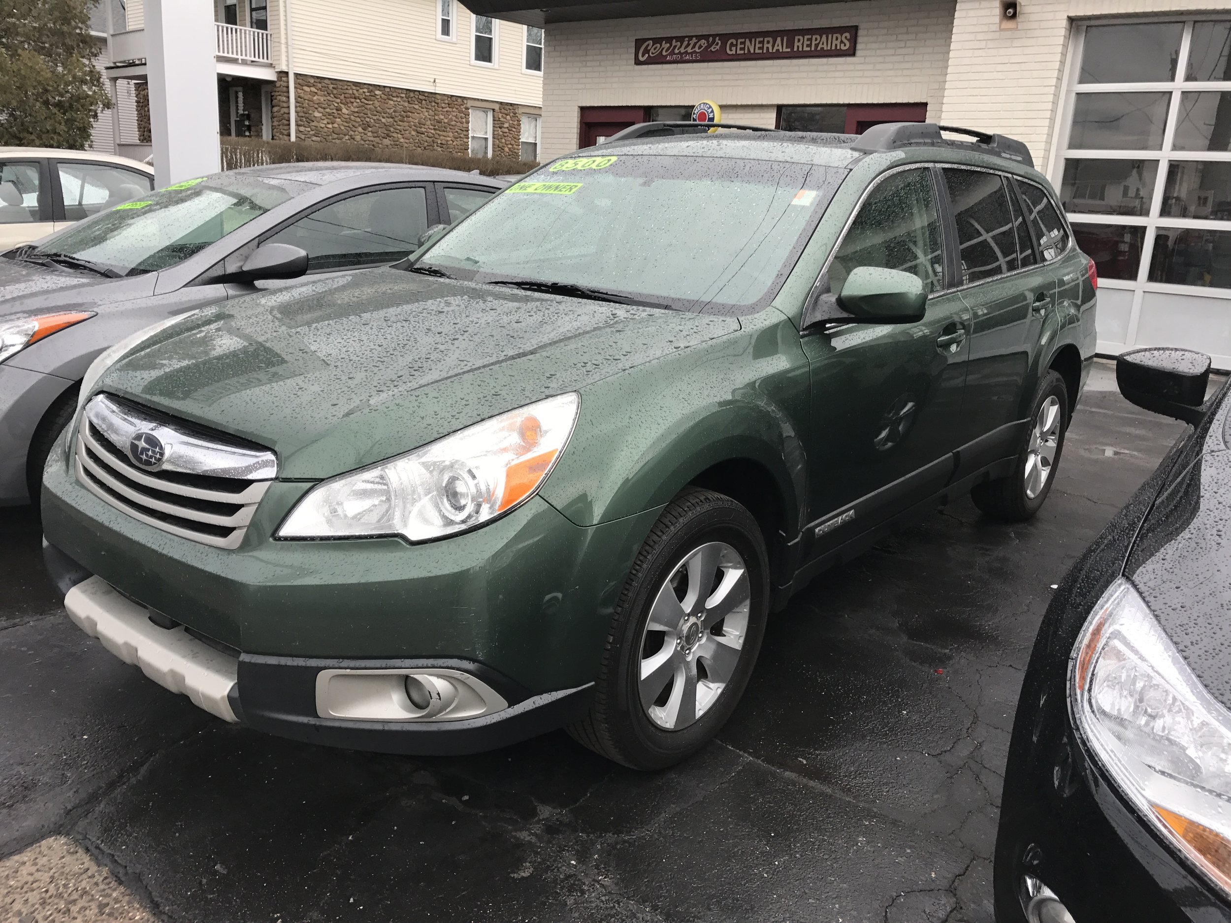 Cct2010 Subaru Outback $8,500  214kAutomatic, 4cyl ac ps pw Warranty leathe, sunroof Great Condition Green Stock # 1732Call or Stop by Cerritos Auto Sales at 203-265-6142 280 North Colony rd. (Rte 5 ) Wallingford CT.