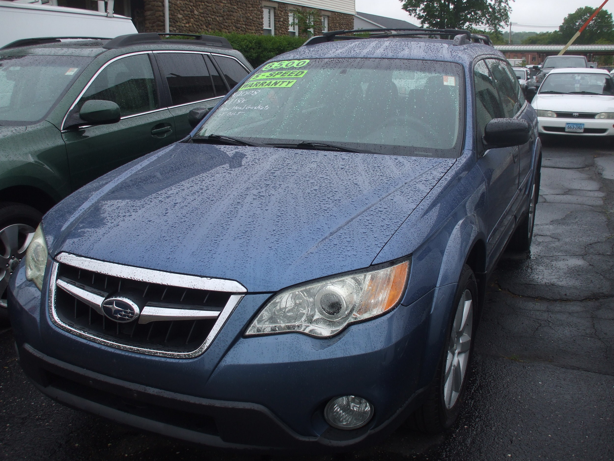 2008 Subaru Outback $ 8,500  5spd great condition stock # 17100 118k call or stop by at 203-265-6142 Cerrito's Auto Sales 280 N. Colony St Wallingford Ct 06492.