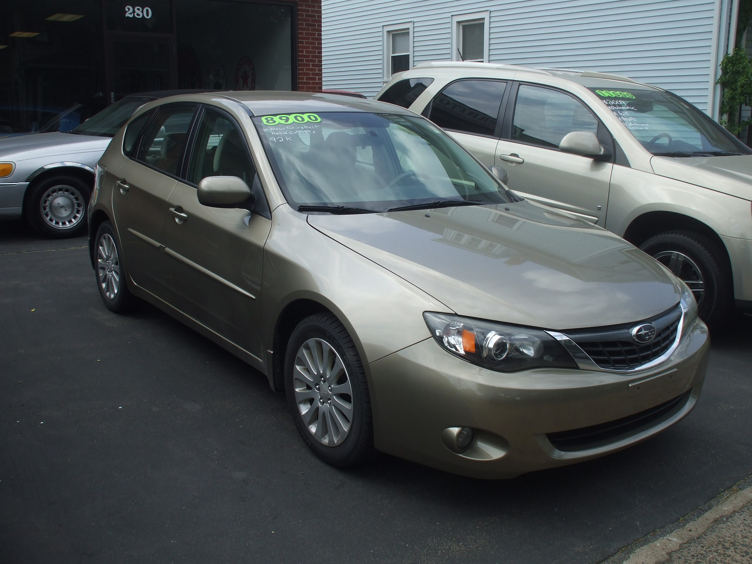 2008 Subaru Impreza 92k $8,900  4door hatch tan automatic pw pl navigation new head gaskets new timing belt great condition stock #17140 Call or Stop By Cerrito's Auto Sales 280 N colony st Wallingford Ct 06492 203-265-6142.