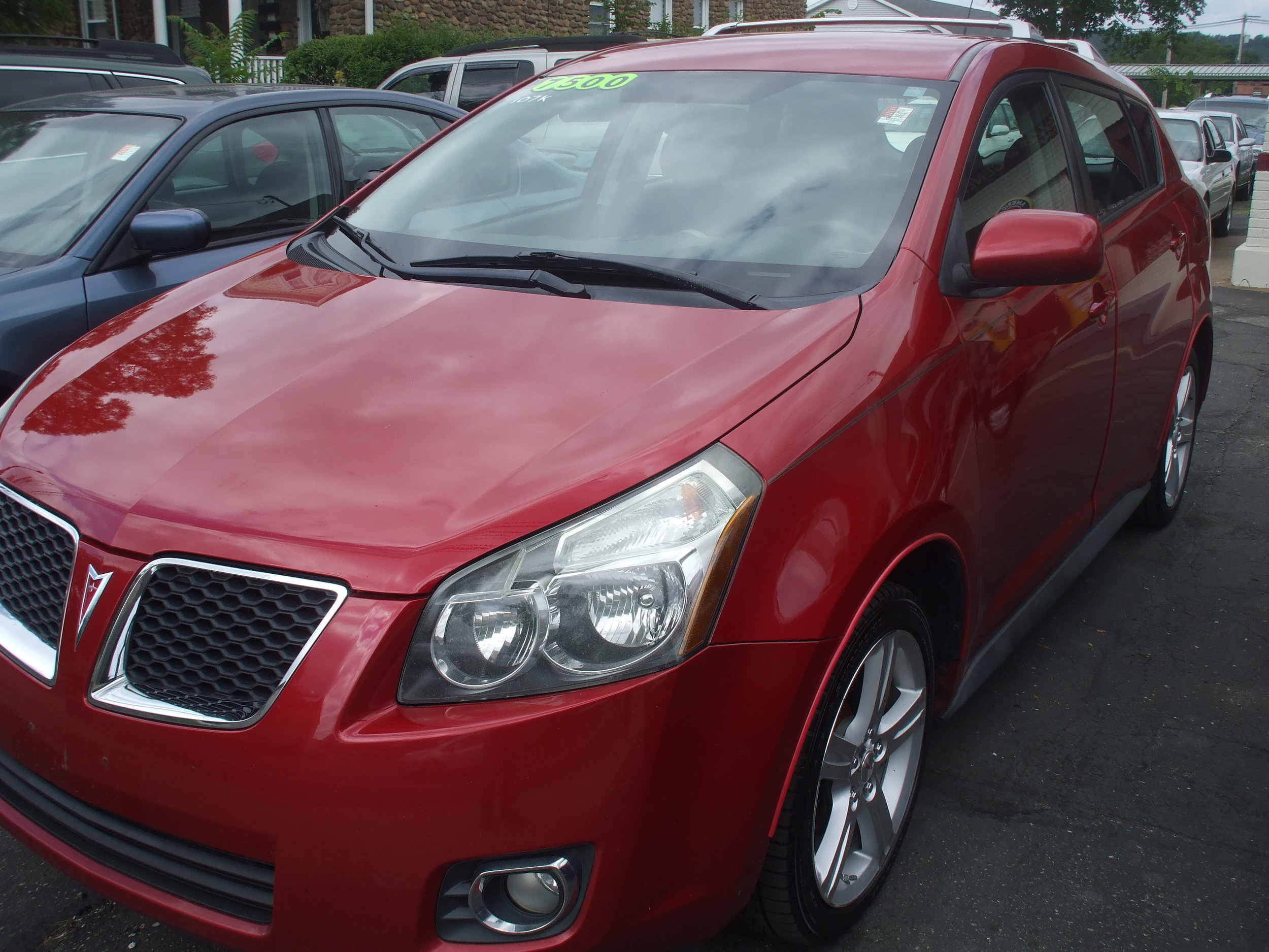 2009 Pontiac Vibe 4 door $7,500  red auto pw pl Great Condition Call or stop by Cerrito's Auto Sales 280 N. Colony St Wallingford Ct 06492. 203-265-6142
