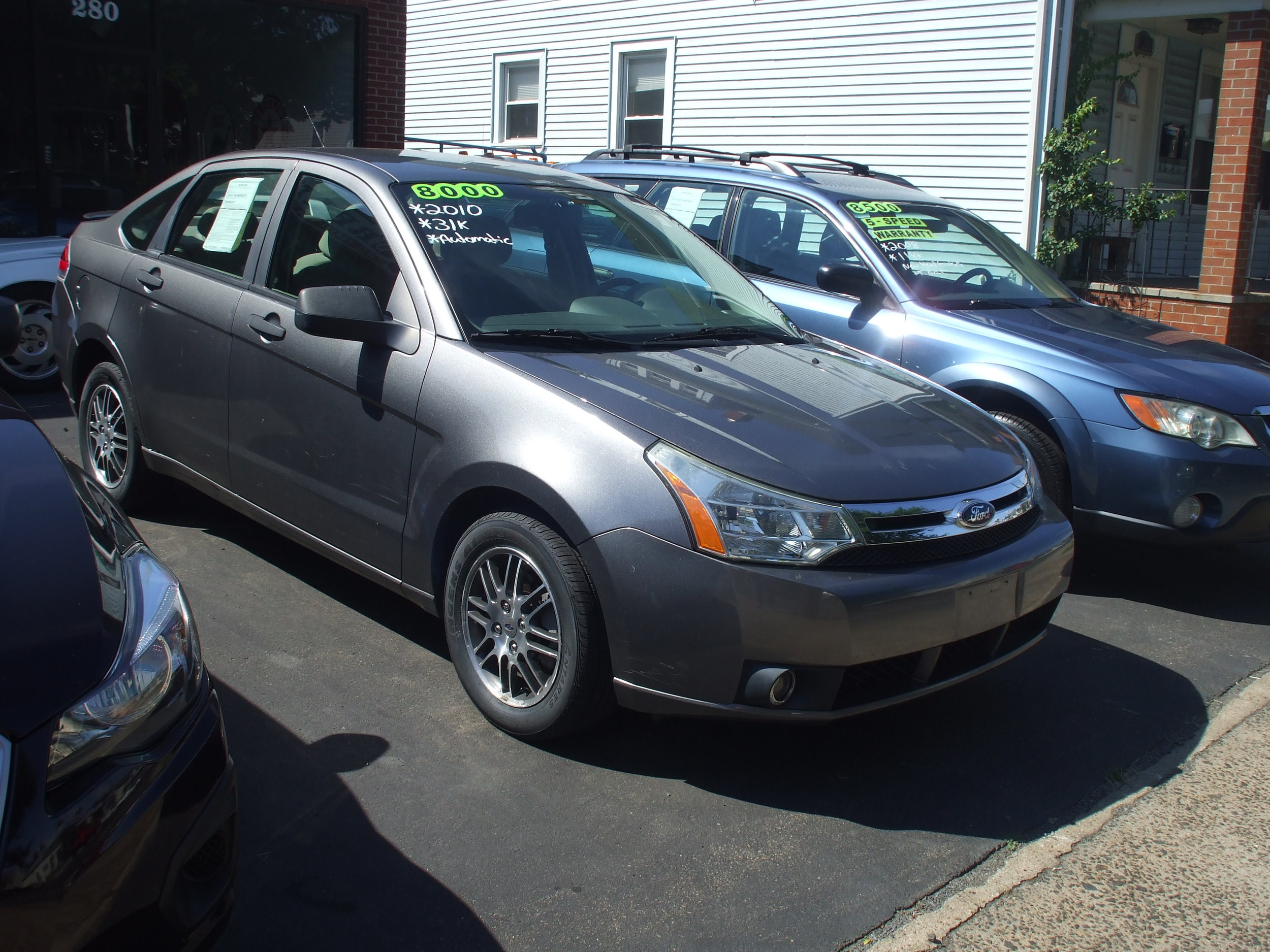 2010 Ford Focus $ 8,000    Grey 4 door auto Great Condition Warranty 30k call or stop by Cerritos Auto Sales 280 N. Colony st Wallingford CT 06492.