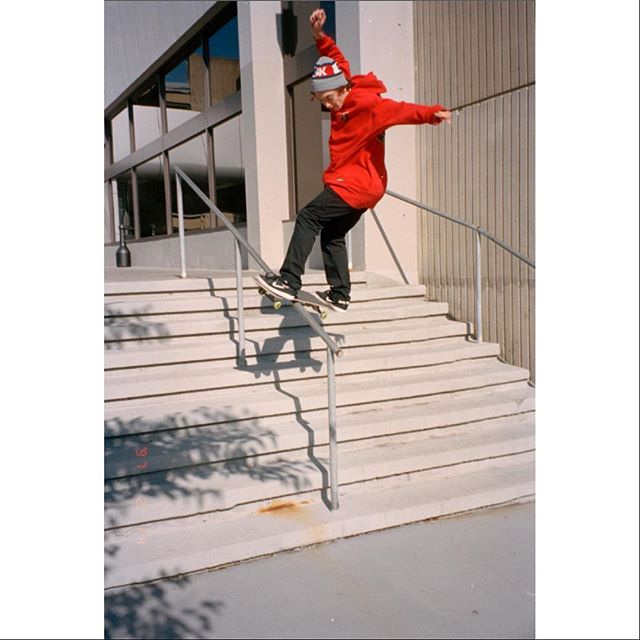 @will_mazzari warming up the other day. Shot on Olympus Stylus. #skateboarding #35mm