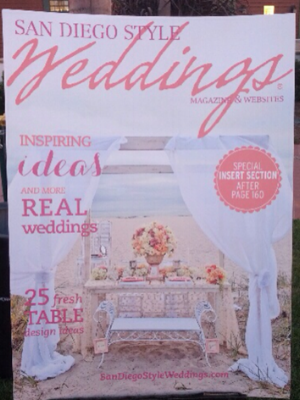 COVER OF SAN DIEGO STYLE WEDDINGS MAGAZINE