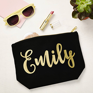 Not on the High Street – Black Makeup Case w/ Gold Name ($23)