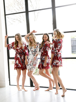 LeRose Gifts – Floral Bridesmaids Robe ($39)