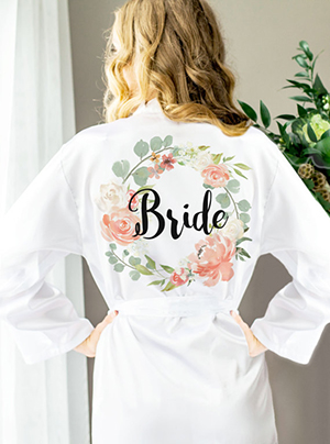 Z Create Design - Floral Personalized Bridal Party Robes ($36)