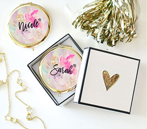 Mod Party – Floral Compact Mirror ($45)