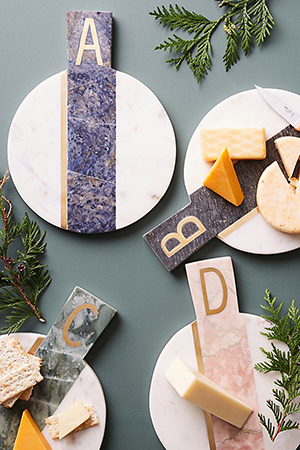Anthropologie - Marbled Monogram Cheese Board ($38)