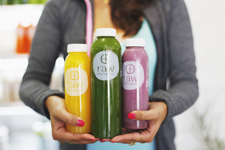 Raw Republic - As the name implies, the whole menu is raw. Raw Republic has my favorite green juices in town along with great wraps and other snacks. Confession: I have developed a pretty serious addiction to their dehydrated fig bars.