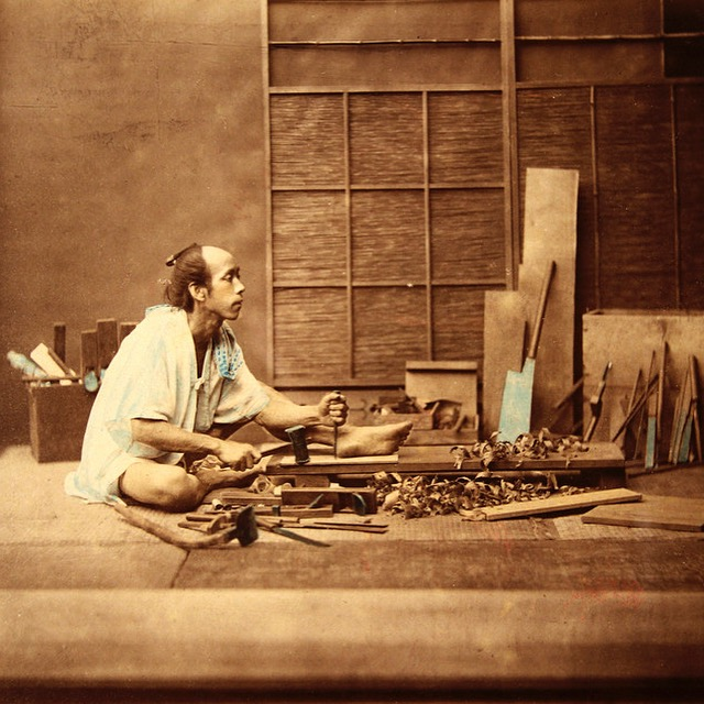 Traditional Japanese carpenter