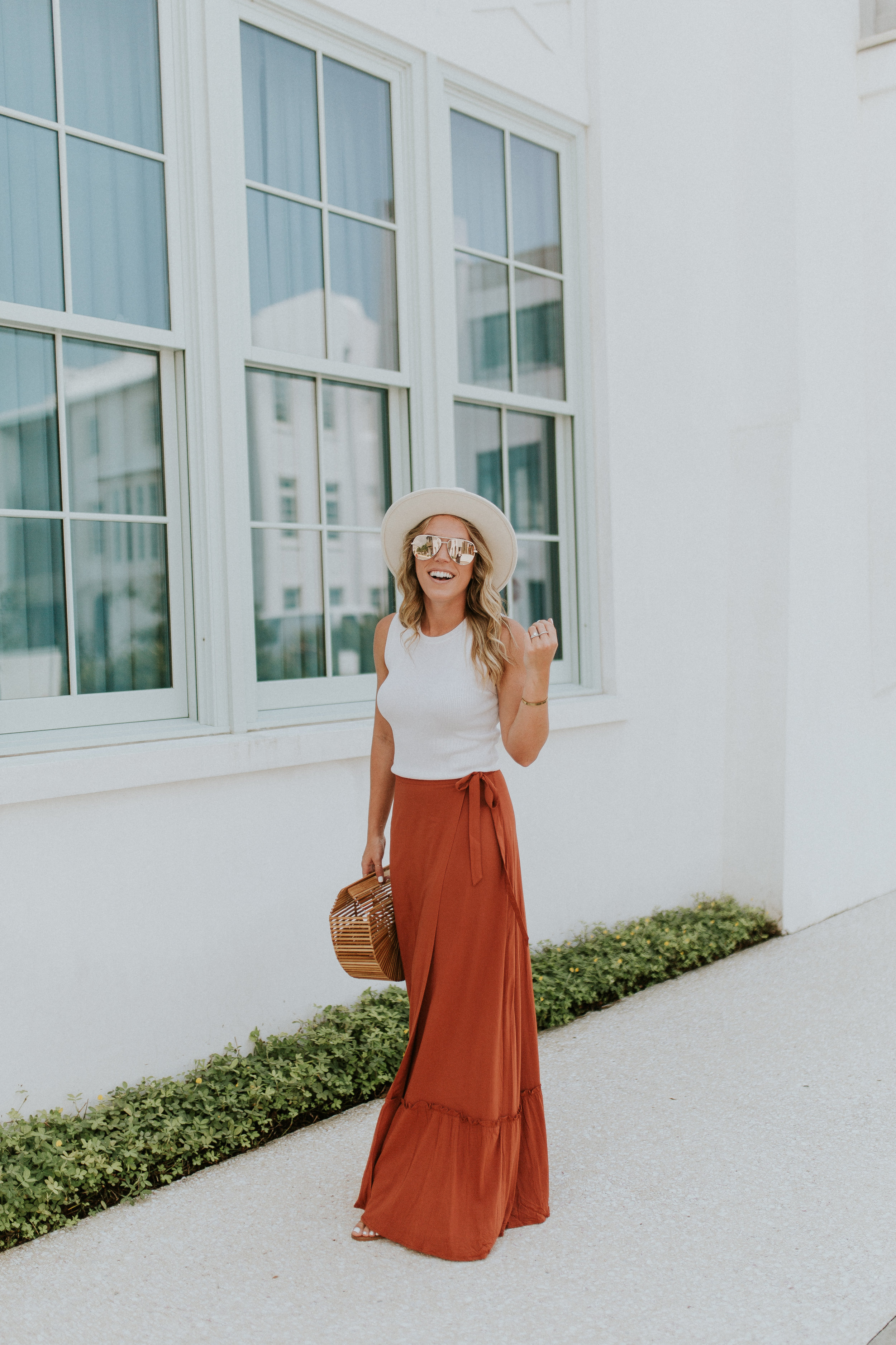 Blogger Gracefully Taylored in Revolve Skirt and Lack of Color Hat(15).jpg