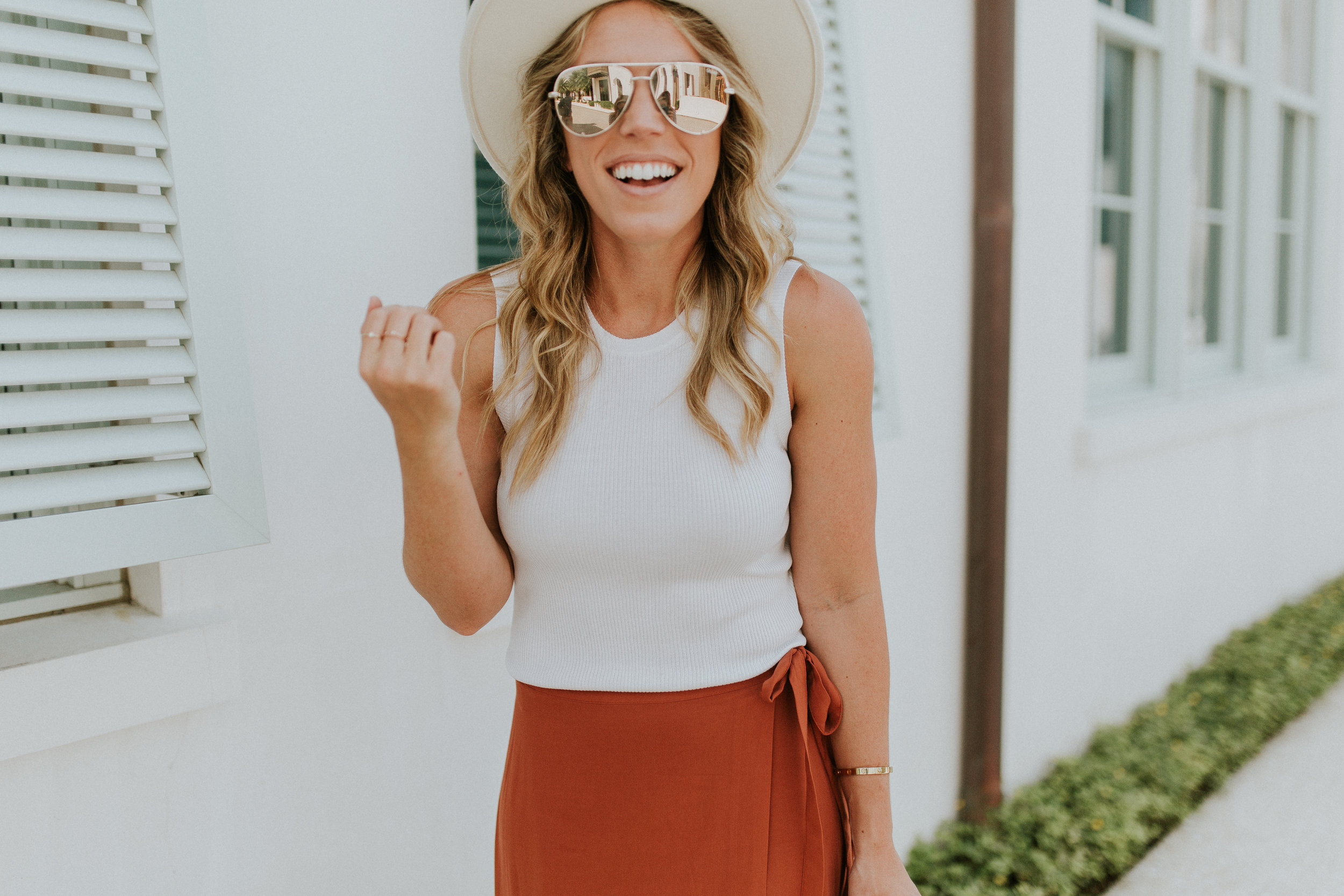 Blogger Gracefully Taylored in Revolve Skirt and Lack of Color Hat(4).jpg