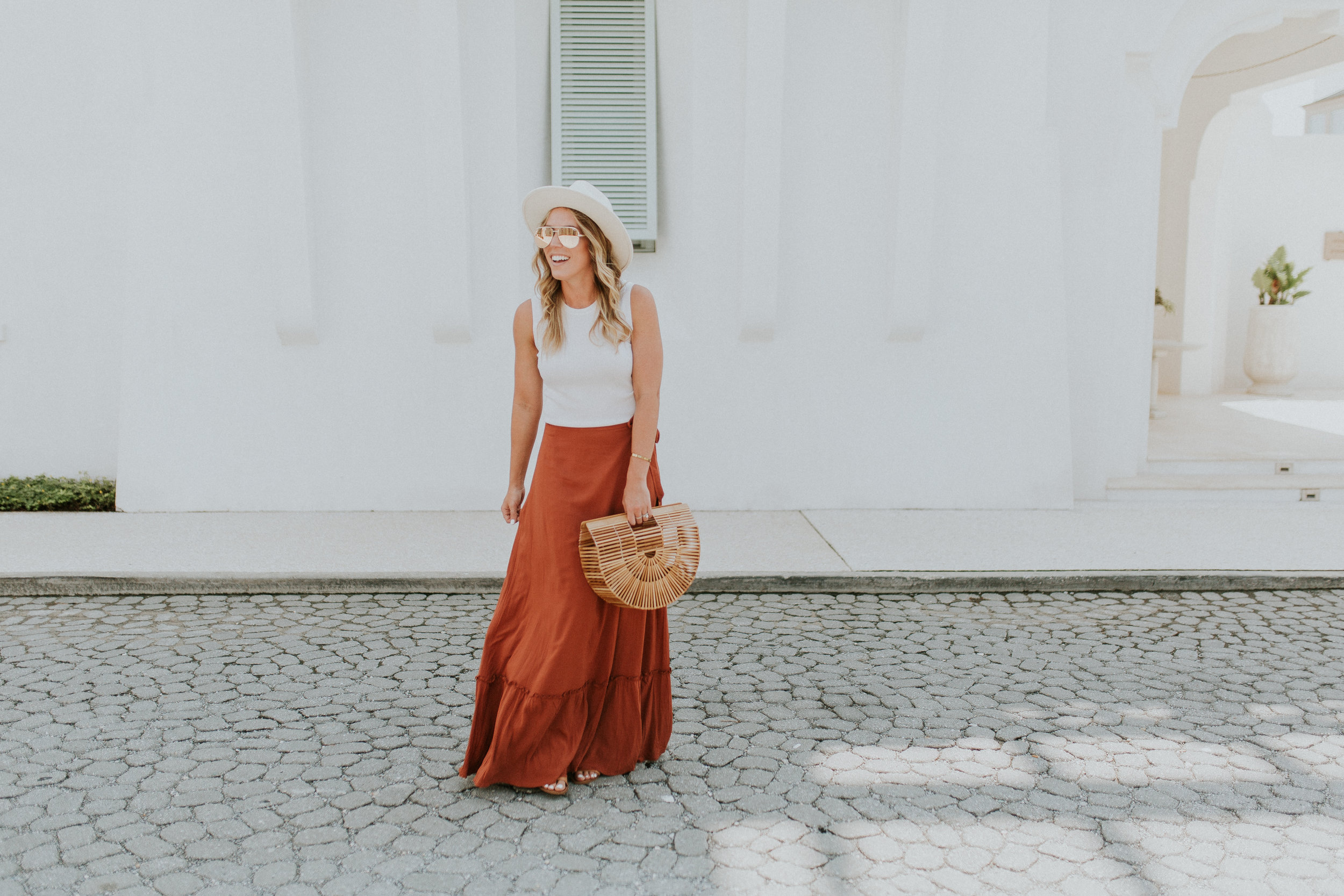 Blogger Gracefully Taylored in Revolve Skirt and Lack of Color Hat(20).jpg