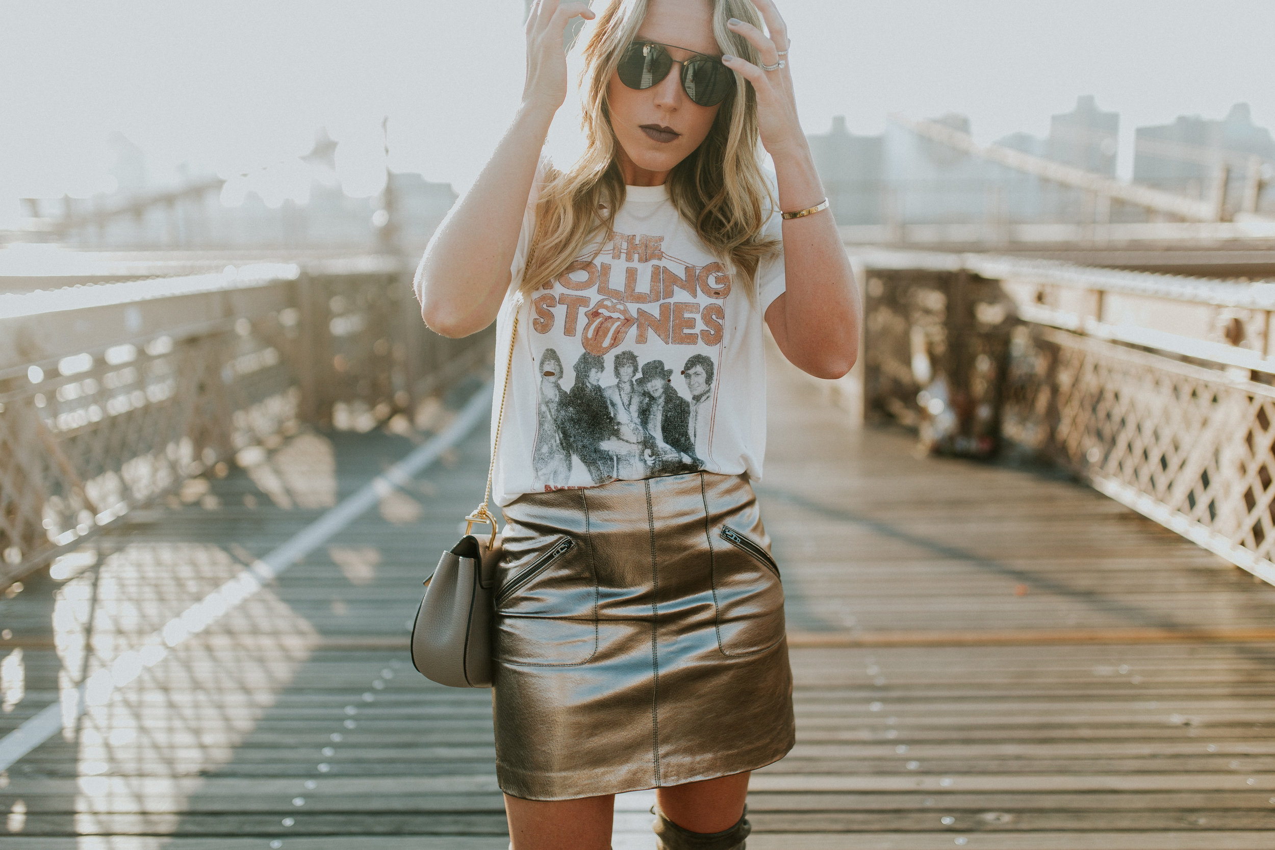 Blogger Gracefully Taylored in DayDreamer Tee, BlankNYC Skirt and Stuart Weitzman Boots(9).jpg