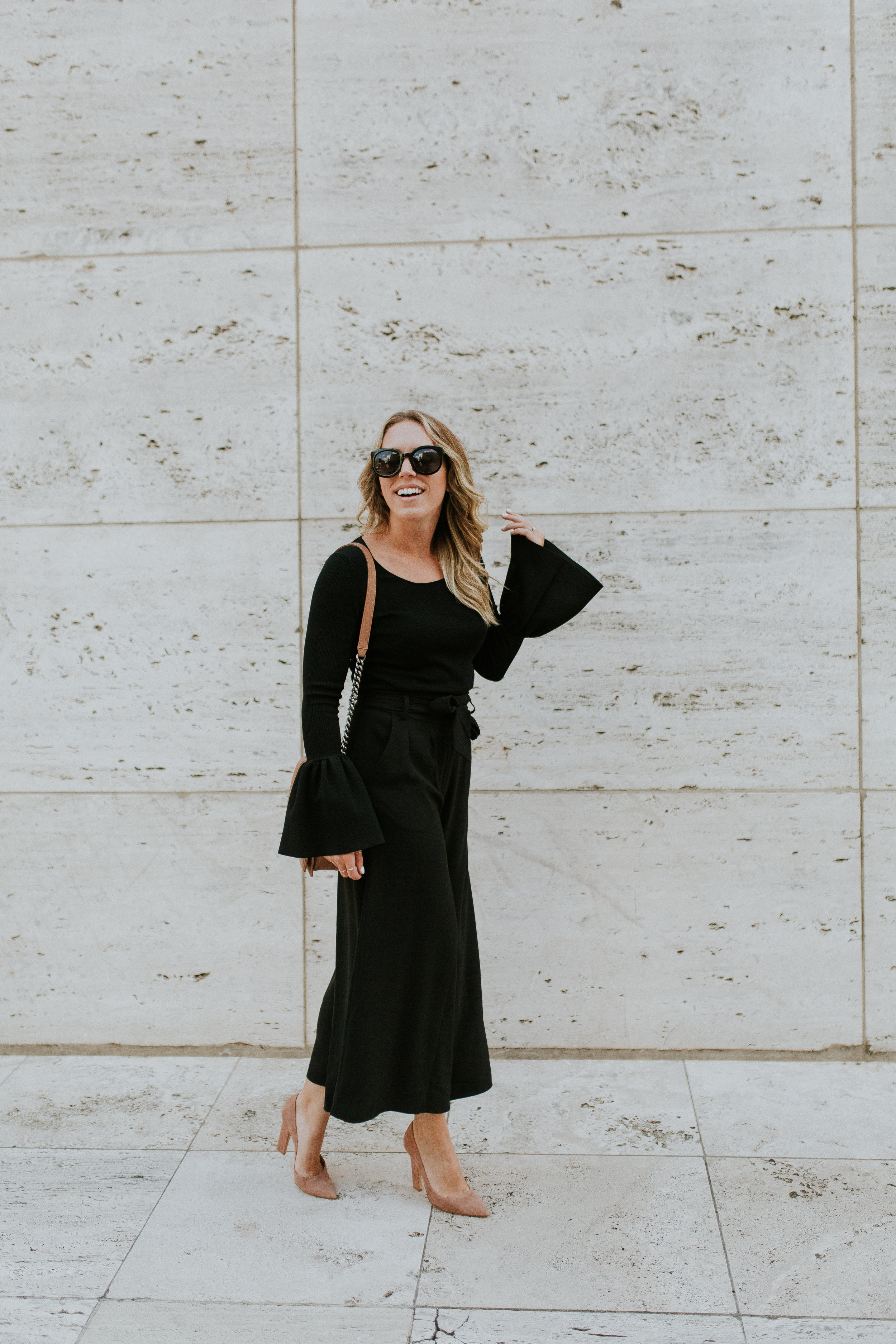 Blogger Gracefully Taylored in Nordstrom Culotte and Bell Sleeve Sweater(1).jpg