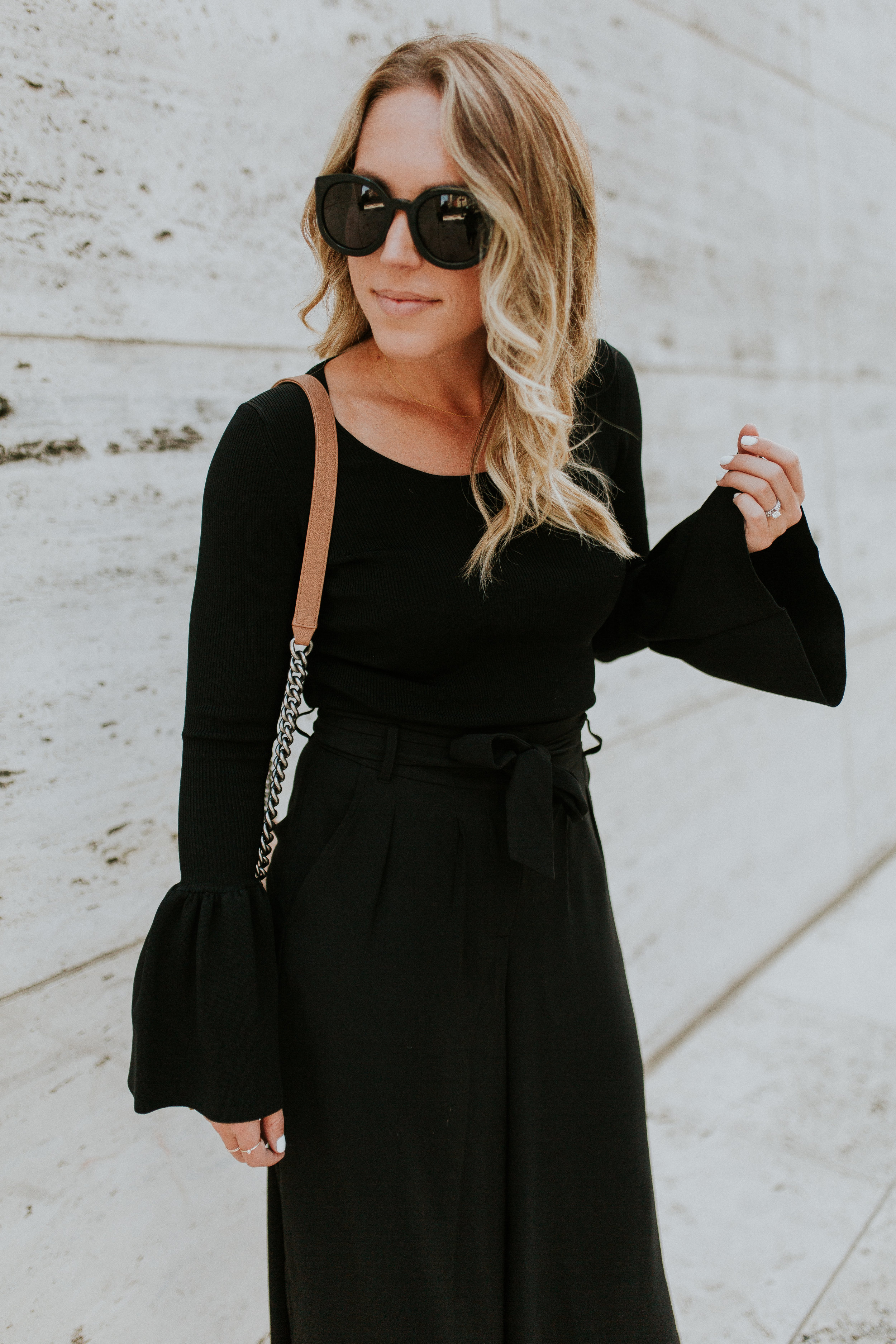 Blogger Gracefully Taylored in Nordstrom Culotte and Bell Sleeve Sweater(3).jpg