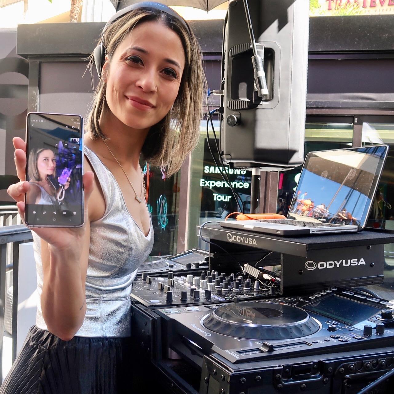 DJ Tessa for Samsung Prism DJs Female DJ 1.JPG