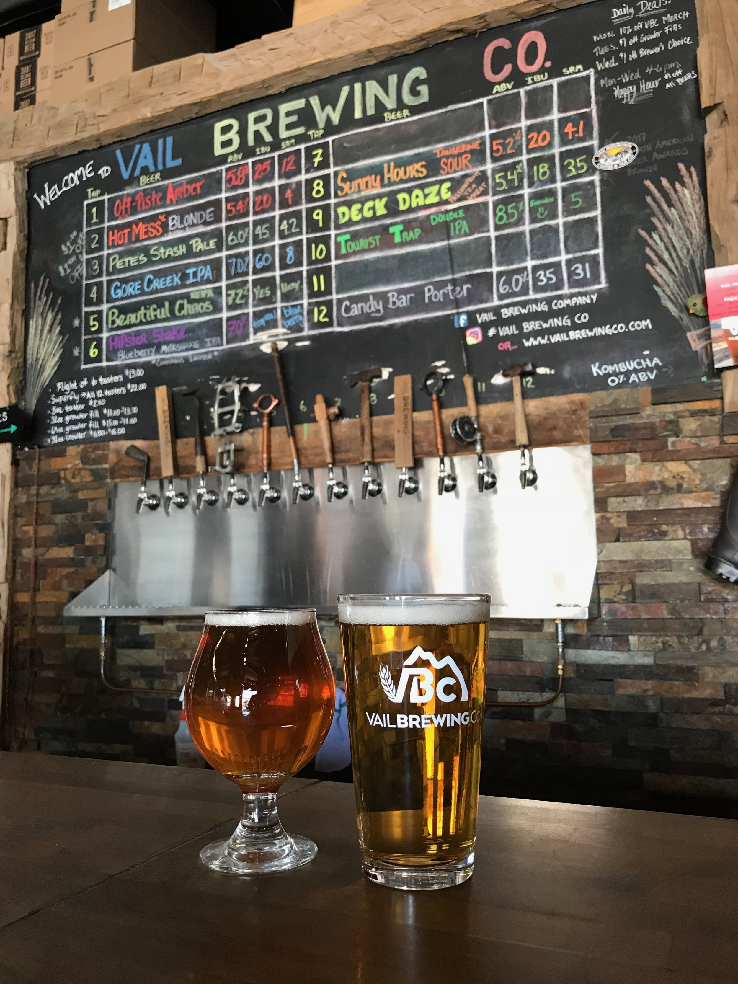 Pit stop at Vail Brewing Company!