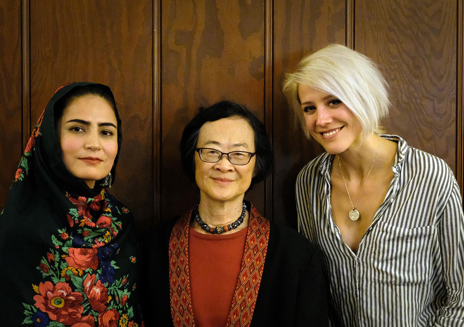 Tabasum Wolayat, Mary Luke and Mo Scarpelli. Photography by Susan Ely.