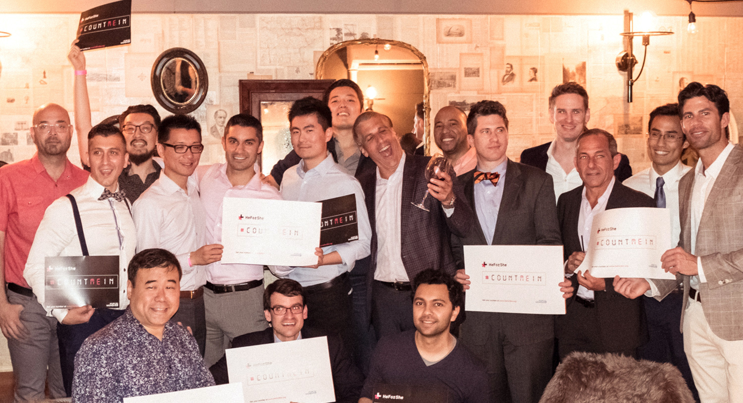 The many passionate male HeForShe advocates who attended. Photography by  Lucas Huang Photography .