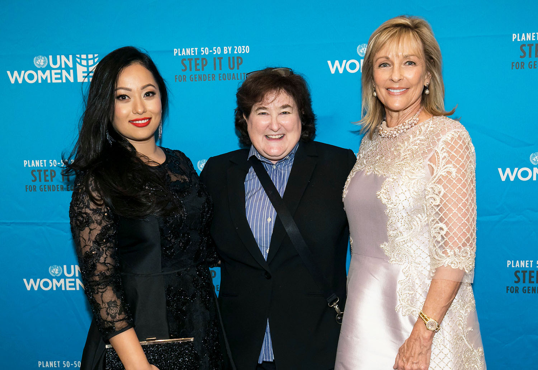 Honorees Jolly Amatya, Erika Karp, and Susie Ellis. Photo: Ben Hider