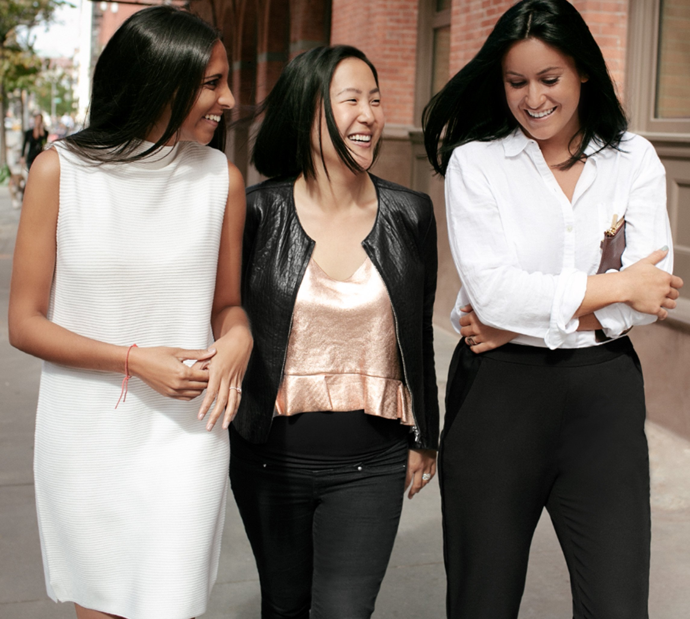 Founders of Dagne Dover: Deepa Gandhi, Melissa Shin Mash and Jessy Dover
