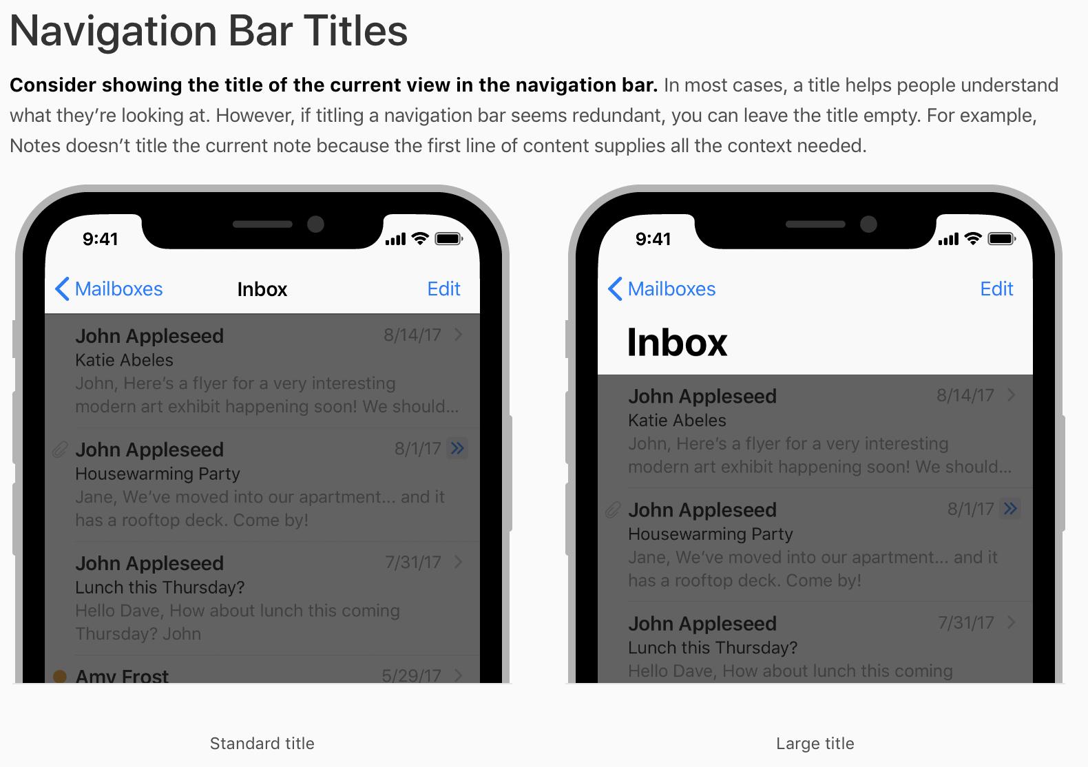 Source:https://developer.apple.com/ios/human-interface-guidelines/bars/navigation-bars/