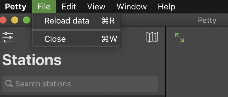Success! There's now a reload action in the menu bar.