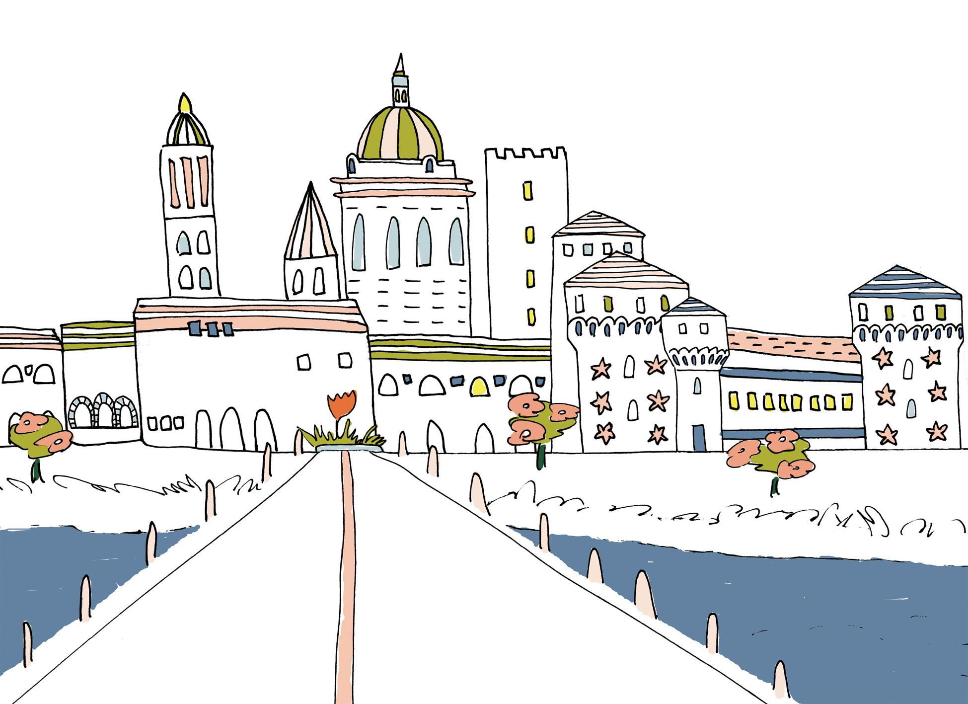 Mantova da colorare Aiello Pini