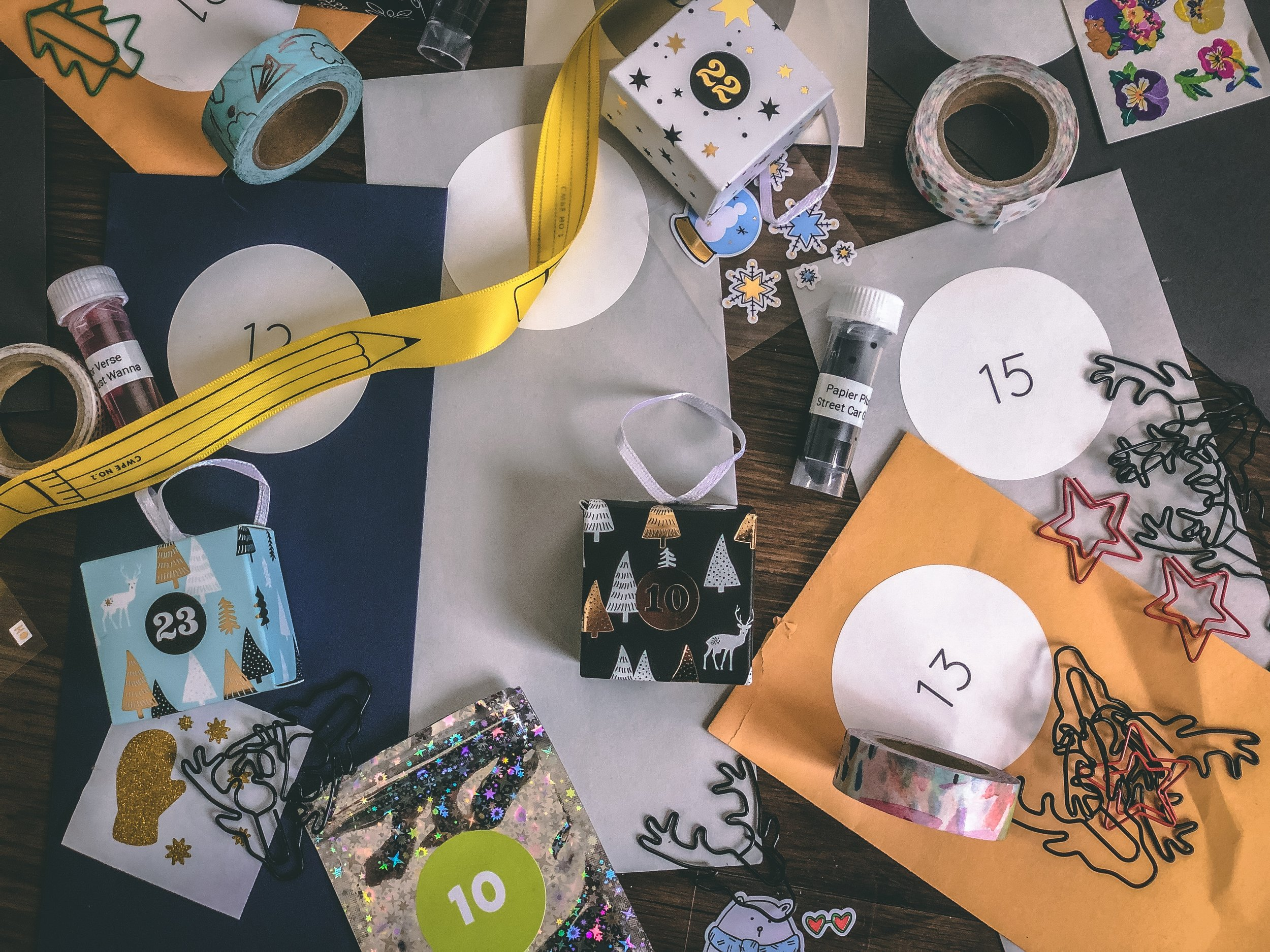 Advent calendar extravaganza above brought to you by my empty wallet and:  CW Pencils ,  Pipsticks , The PenAddict Slack Invent Swap, and  David's Tea