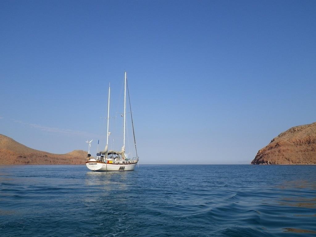 Harmony  anchored in the Sea of Cortez.