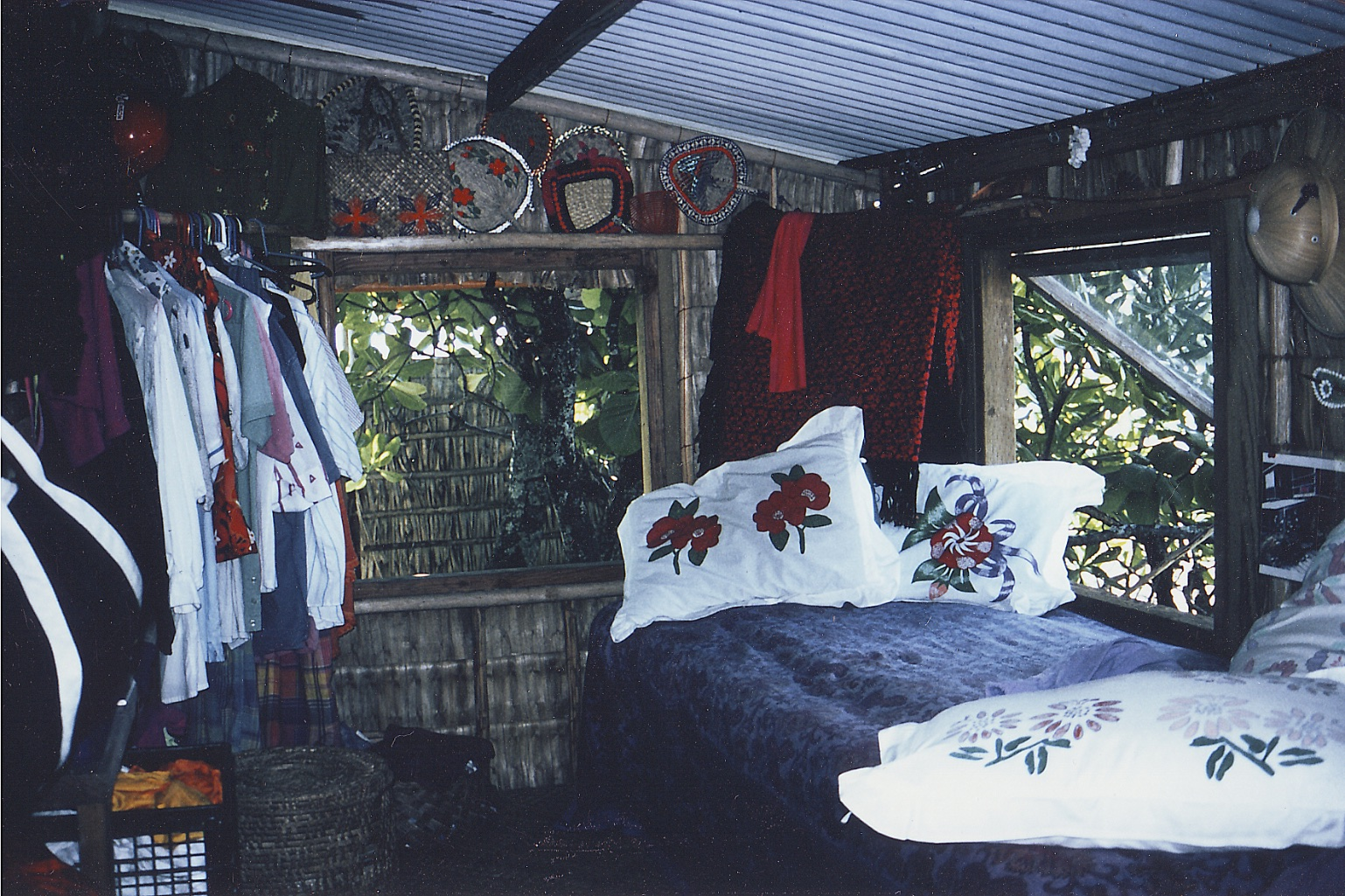 Joan's petite but comfortable bedroom. (Photo credit: DK Howe)