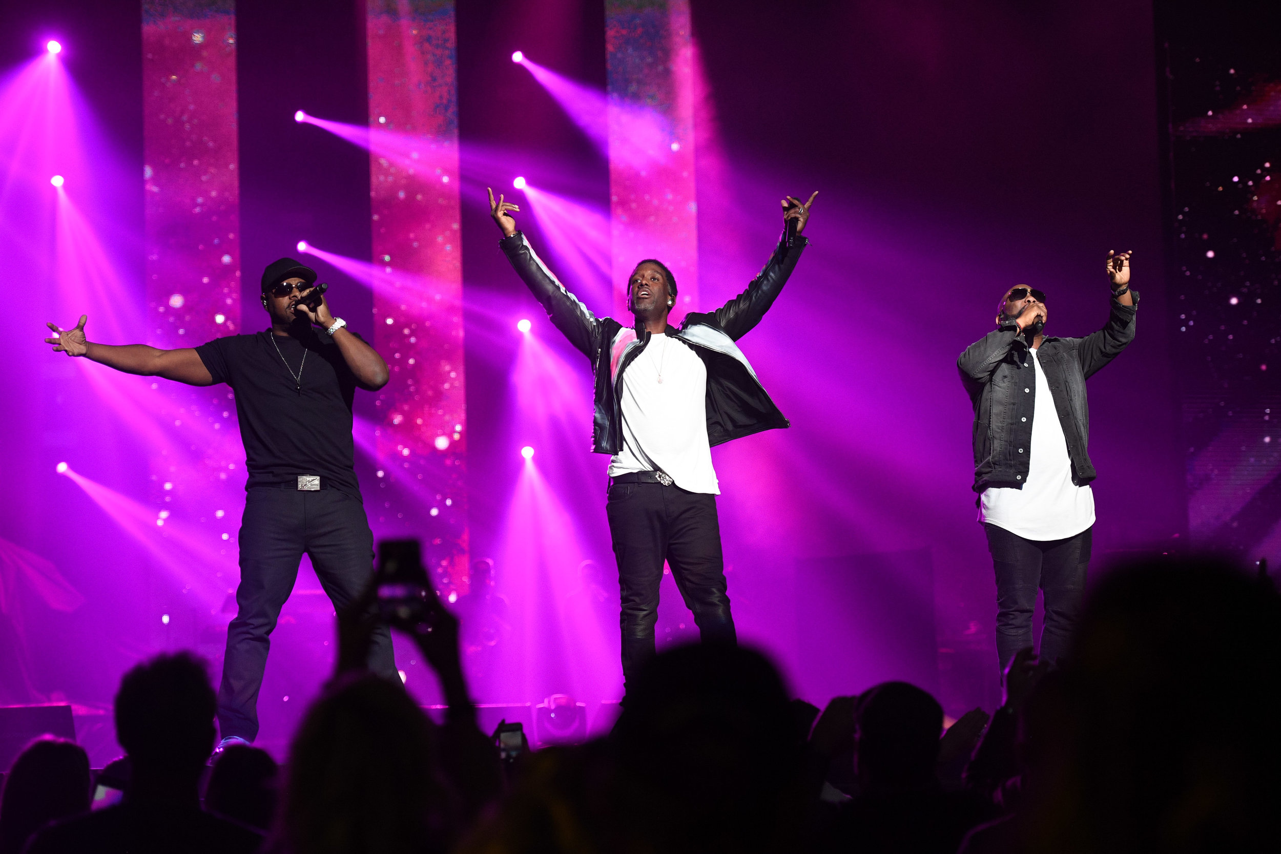Boyz II Men at the Vegas Strong Benefit Concert in Las Vegas, Nev., Dec. 1, 2017. Photo credit: Powers Imagery