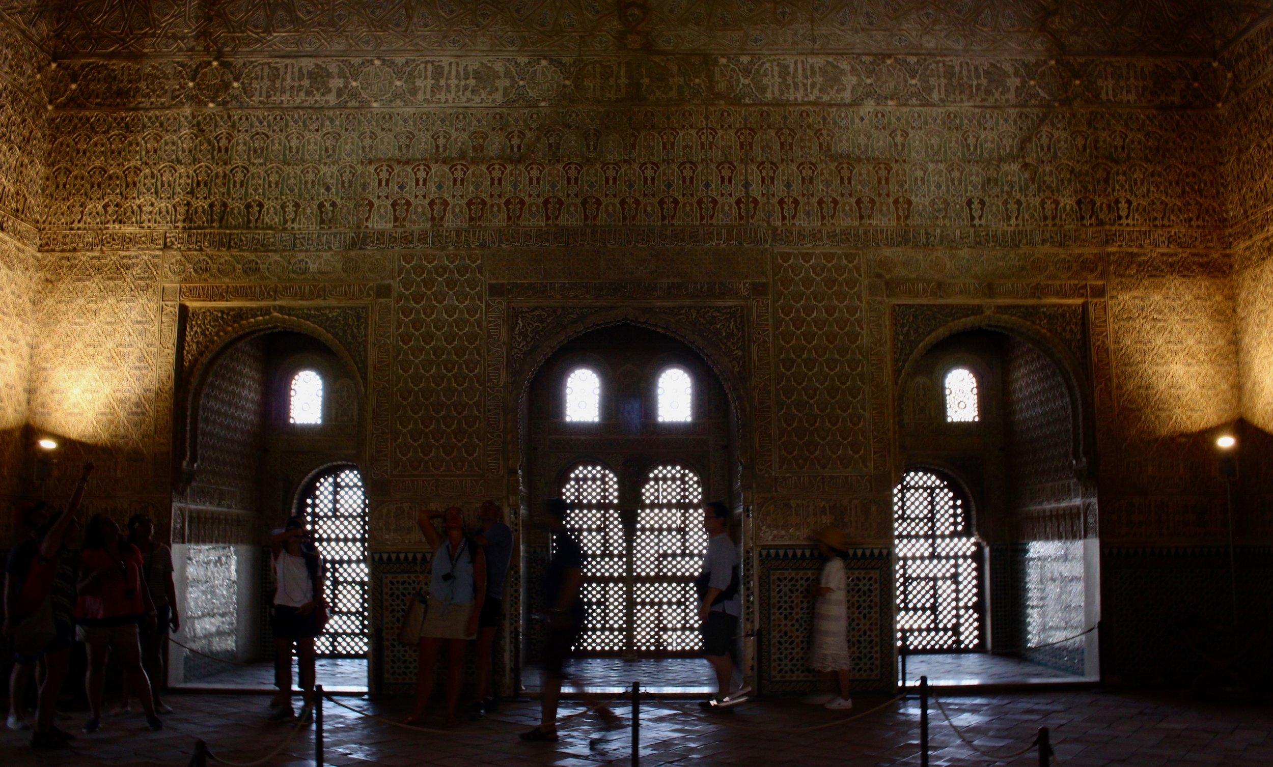 The Salón de los Embajadores  in the Alhambra, Granada.
