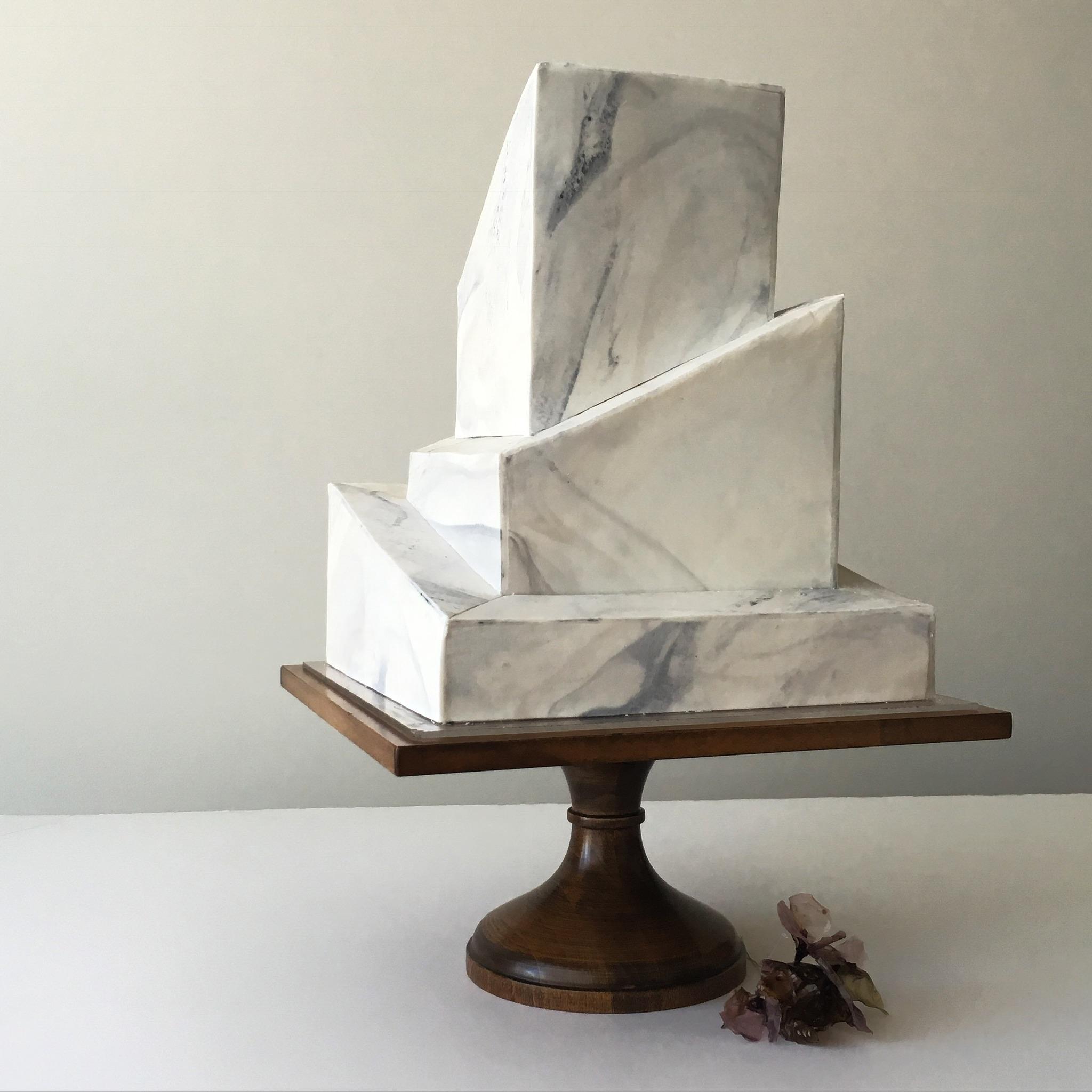 """grey marble """"wedding cake"""" stone"""