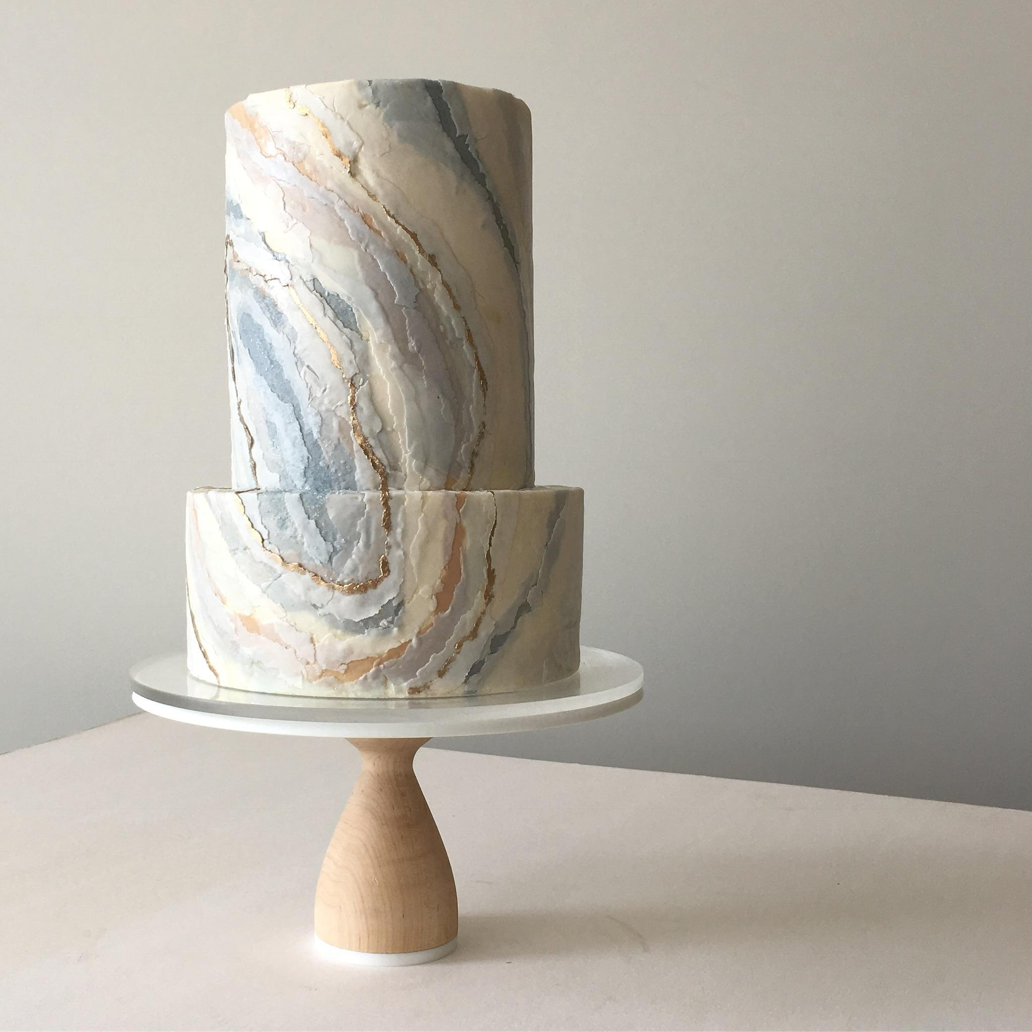"blue agate ""wedding cake"""