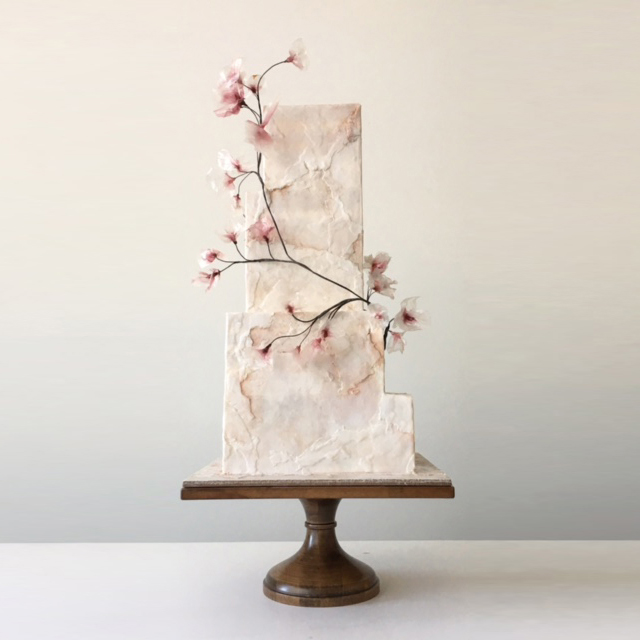 """Cherry blossoms"" stone ""wedding cake"""