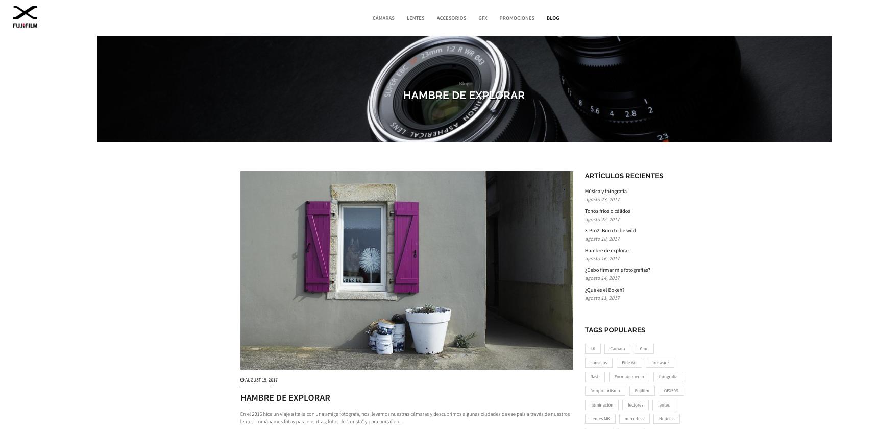 Colaboración con Fujifilm México