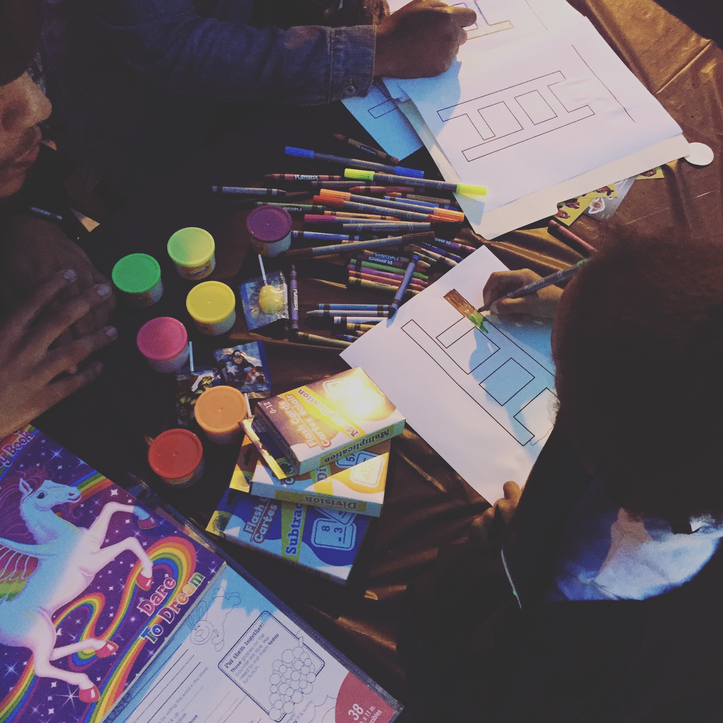 """October 31, 2016  """"TreeHouse SideWalk Party"""" Outside of the Anacostia Library  Along with candy and toys,children were given flash cards, art supplies, and a space to express themselves creatively."""