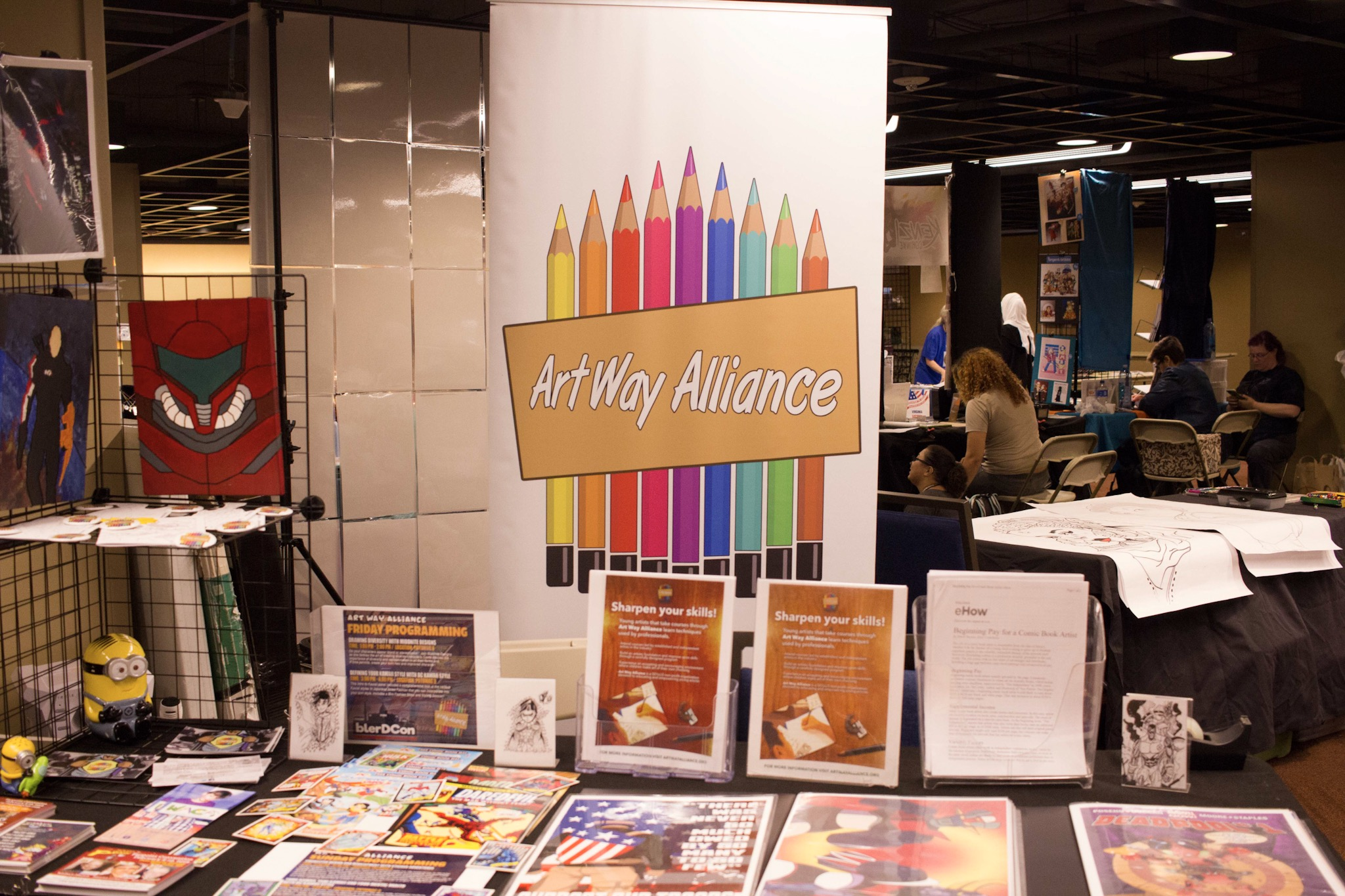 We've had the privilege of knowing about Artway Alliance and following their journey for quite some time. They are a non-profit that teaches kids how to create comic books, anime, and other illustrations to help stimulate and refine creativity at a young age.
