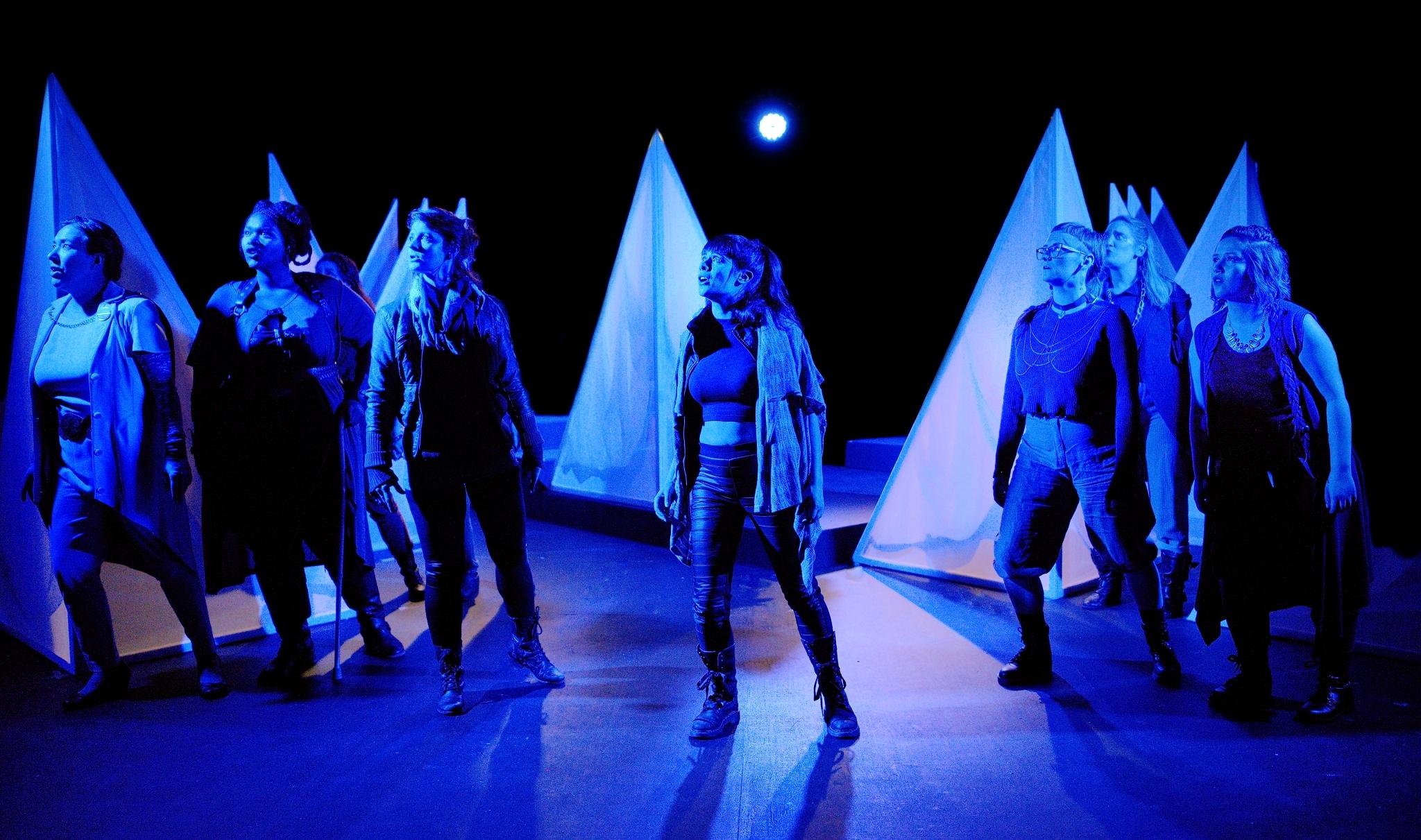Production Still:  BIG BAD . Marcus Gorman, Alyza DelPan-Monley, Jordan Moeller, and Jessica Stepka. Photo by Joe Iano.