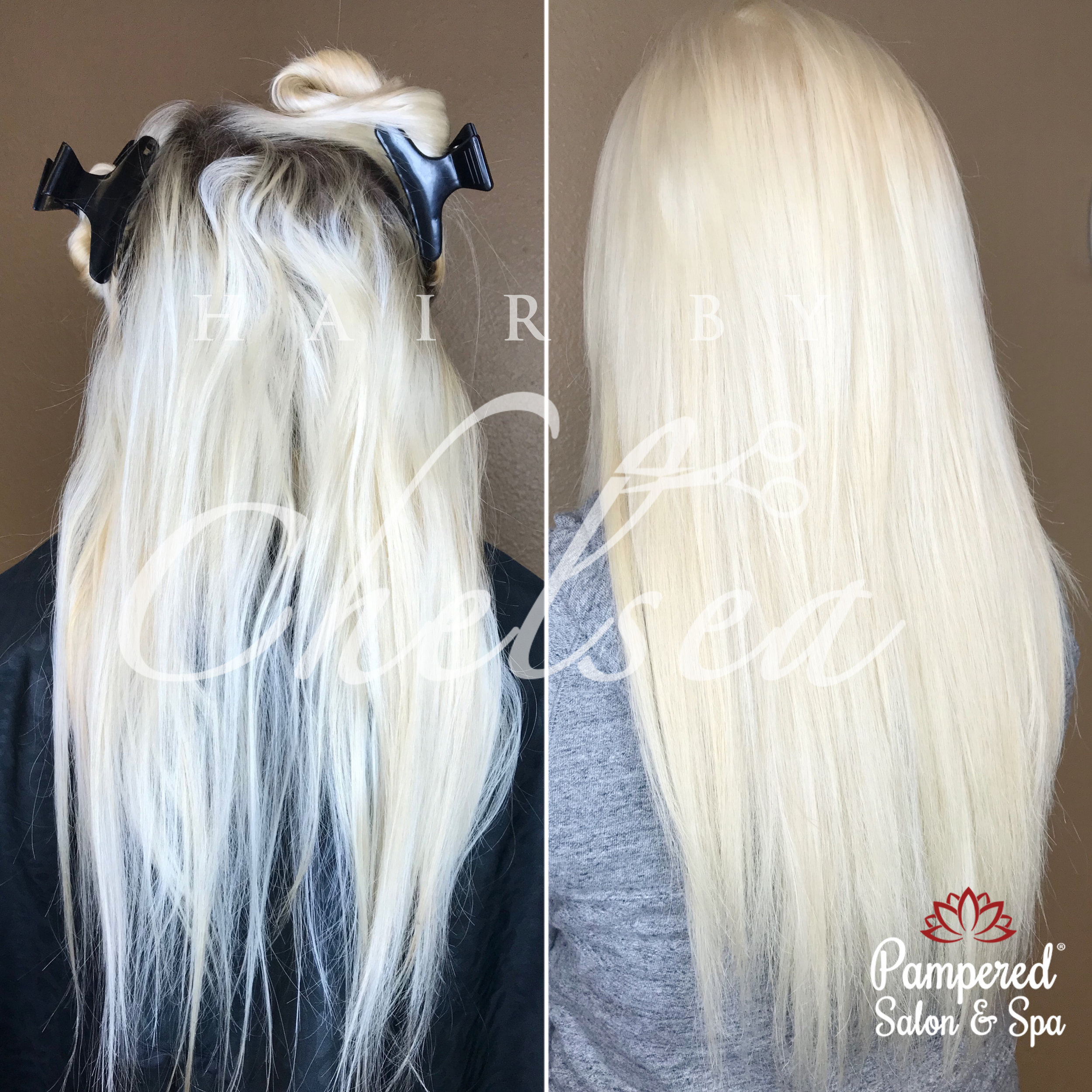 Platinum Root Touch Up by Chelsea   Click to:     Book With Chelsea