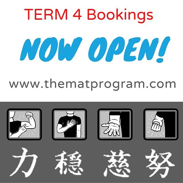 Our Timetable for Term 4 is now open for bookings and is filling up fast!  Secure your place by sending us a message or completing our booking form at www.thematprogram.com/book-now  #EmpoweringEveryChild 👊🏼 #bestrong  #becalm #bekind #tryhard  #mentalhealthawareness #youthmentalhealth #emotionalintelligence