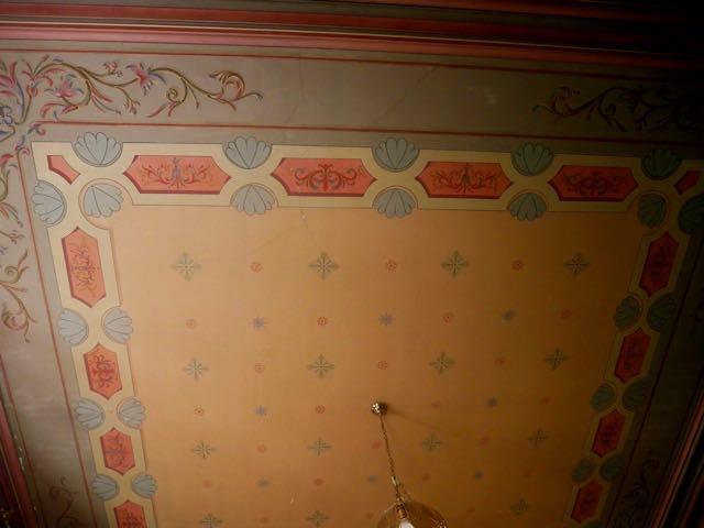 Handpainted ceiling in master bedroom