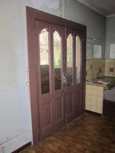 large doors leading into garden area