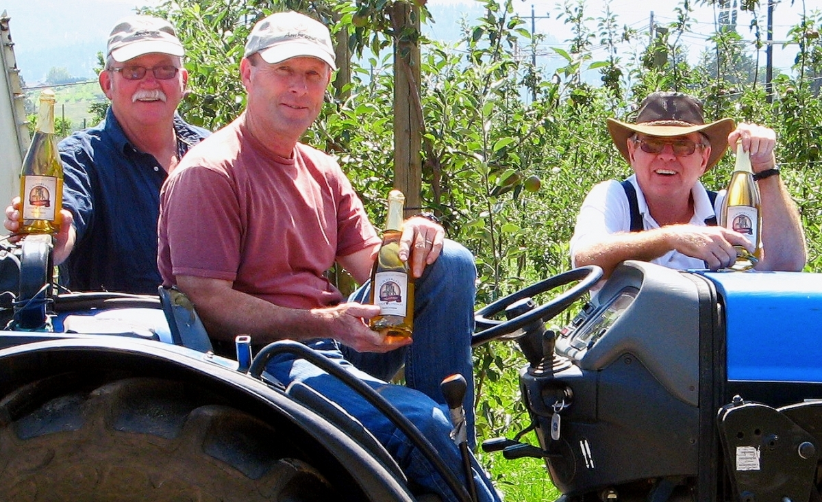 Tom, Bob & Ron showing off their new product!